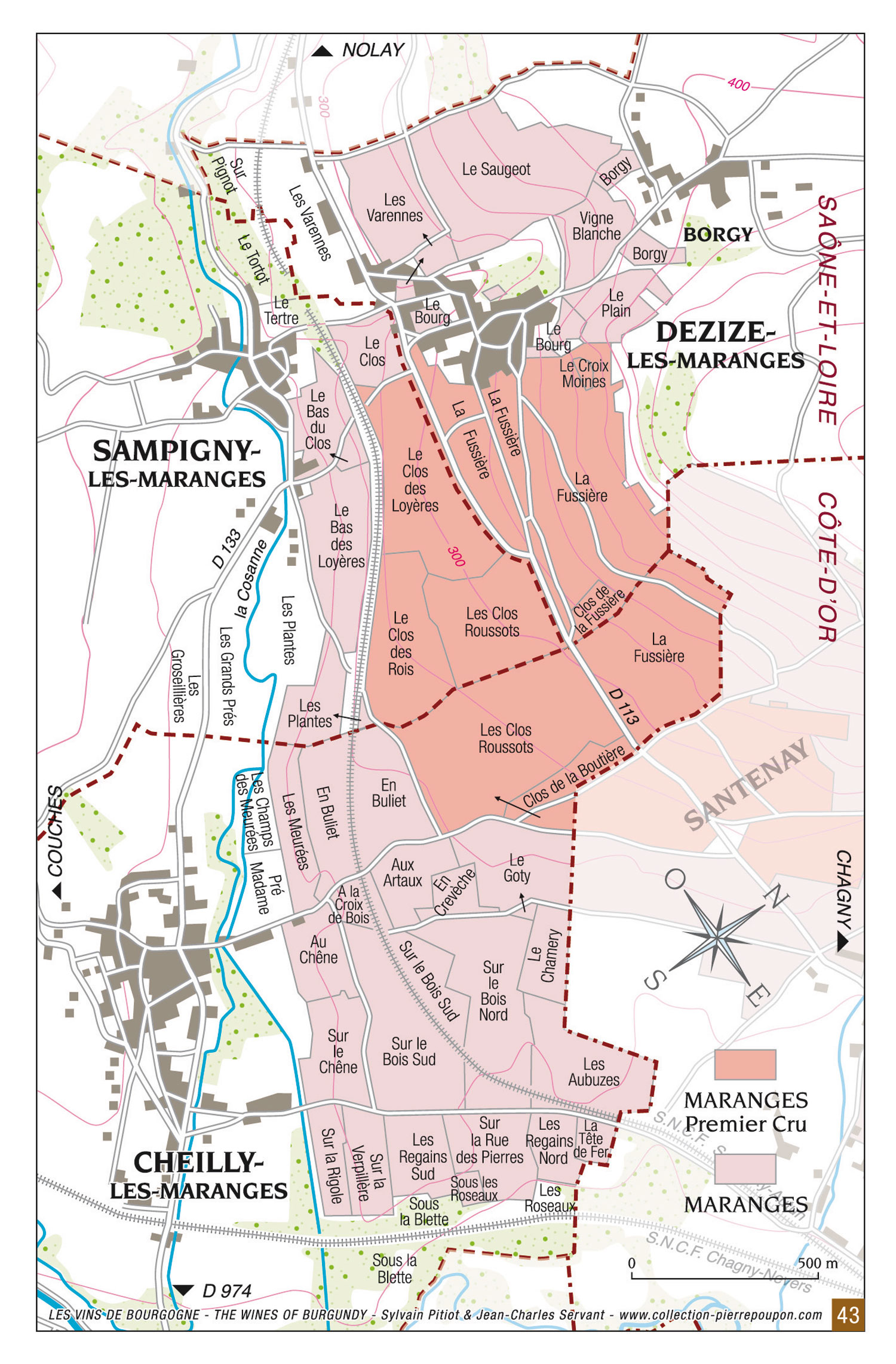Carte Bourgogne Maranges.Maranges Bourgogne Wines