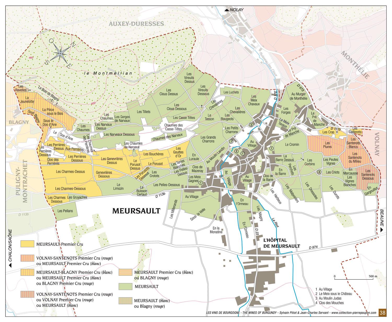 Терруары виноградников Meursault