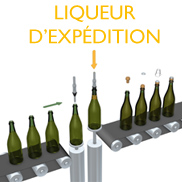 "Addition of the ""liqueur d'expédition"" / Corking"
