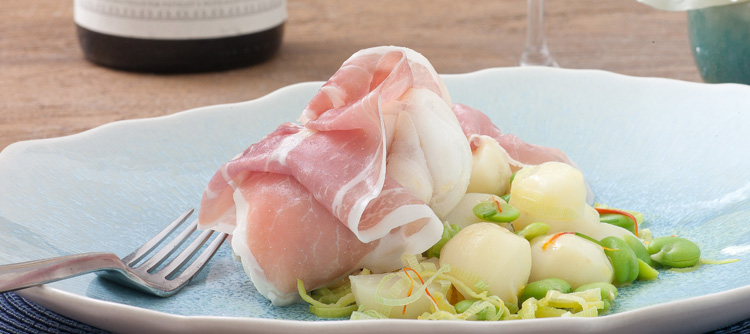 Parma Ham wrapped,  Summer fish by Aldo Zilli