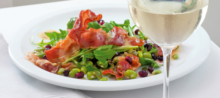 Super Food Salad: Parma Ham , and Broad Bean Salad