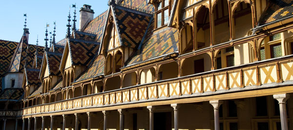 The Hospice de Beaune - Inside courtyard