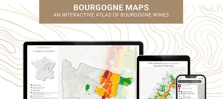 Bourgogne Maps is an interactive atlas of Bourgogne wines