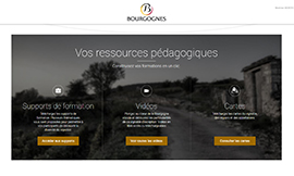 A website for Bourgogne wine trainers in 2018 - © BIVB / All rights reserved