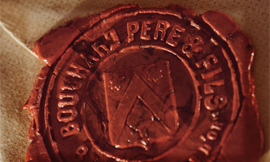 The wax seal of Bouchard Père & Fils ©BOUCHARD PERE & FILS