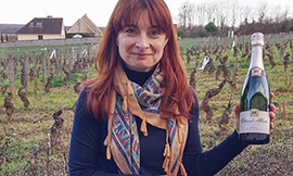 Agnès Vitteaut, head of the Vitteaut-Alberti wine house in Rully (Côte Chalonnaise) ©BIVB/DR