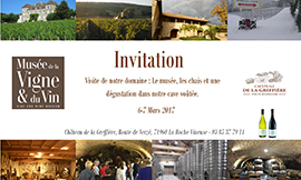 Open days for professionals at the Château de la Greffière on 6 & 7 March